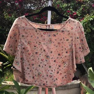 Billabong floral crop top